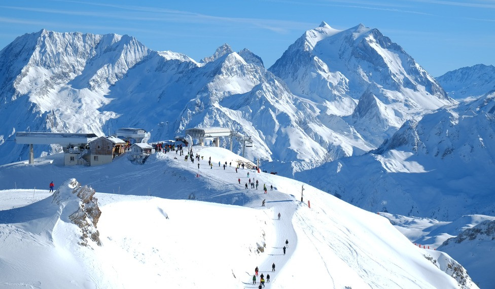 ski dans les Alpes en France